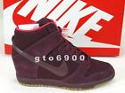 Nike Wmns Dunk Sky Hi Essential Burgundy Hidden Heel Wedges 644877-601