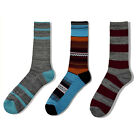 Men Casual Cotton Socks High Tube Hosiery Medium Length Striped Socks 3/6/9PAIRS