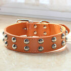 Dog Collar Spiked Studded leather Dog Collar for Large Dog Pitbull Bully Terrier