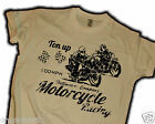Biker Shirt Chopper Rockabilly 100 MPH Ton Up Motorcycles V8 Hot Rod Cafe Race