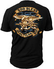 Limited Edition God Bless US Navy Seal Team 6 T-Shirt S M L XL XXL XXXL Black
