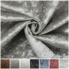 LUXURY FIRE RETARDANT PLUSH SOFT CRUSHED VELVET GLITZ FABRIC UPHOLSTERY CUSHION