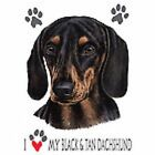 Black Dachshund Love T Shirt Pick Your Size 7 X Large to 14X Large