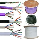 CAT5e CAT6 & CAT6a Reel / Cut to Length Cables - Screened Ethernet Outdoor Leads