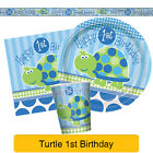 BLUE TURTLE First (1st) Birthday Party Range - Decorations Supplies Tableware