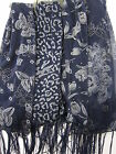91324- Ladies Unbranded Navy Sparkle Scarf 4 Designs- Great Price!