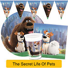The Secret Life of Pets - Birthday PARTY RANGE (Tableware Balloons Decorations)