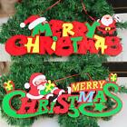 Merry Christmas Ornaments Festival Party XMAS Tree Hanging Decoration 2 Styles S