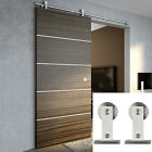 5-8FT  Modern Stainless Steel Sliding Barn Door Hardware Roller Closet Track Set