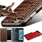 Retro Luxury Crocodile Texture Genuine Cowhide Leather Cover Case For Iphone7