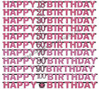 7ft Sparkly Pink Jointed Letter Banner Party Decorations Happy Birthday Bunting