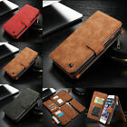 Leather Removable Wallet Magnetic Card Case Cover For iPhone 7/7 Plus /6 6S Plus