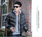 NEW Men Winter Thick Solid padded Jacket Puffer Hooded Parka outwear Cotton coat
