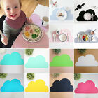 Kids Baby Silicone Cloud Insulation Pad Placemats Dining Table Place Mat 16color