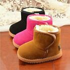 Boys Girls Snow Boots Winter Warm Kids Casual Furry Lined Shoes Children Babies