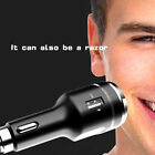 4 in 1 USB Car Charger Safety Hammer Electric Shaver LED Light Quick Charge Men