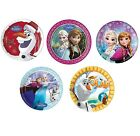 8 PAPER PLATES (23cm) Licensed Disney FROZEN Ranges (Party/Birthday/Tableware)