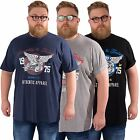 Mens Plus Size Casual Short Sleeved T-shirt Printed Tee Top L&F Sizes 2XL - 5XL
