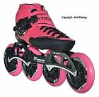 2017 Luigino Strut Pink Inline Speed Skate, 4x110 Frame, Atom One 110mm Wheels