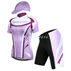 Yokgo New Cycling Short-sleeved Bicycle Jersey&4D Padded 1/2 Pant Bike Suits Set
