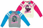 Girls Monster High Varsity Draculaura Clawdeen Wolf Sweatshirt 8 10 12 14 Years
