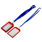 Company School Plastic Rectangle Name ID Card Tag Badge Holder Container 5 Pcs