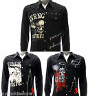 Rock Band Long Sleeve Shirt Avenged Sevenfold A7X Metal Punk Vtg Black Stud LANC