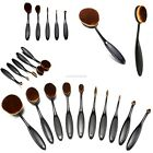1/10pcs Toothbrush Shaped Foundation Power Makeup Oval Cream Puff Brushes EN24H