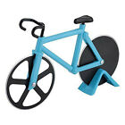 Bicycle Pizza Cutter Dual Non-stick Stainless Steel Bike Wheel Knife Slicer VNC