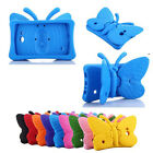 """Kids Butterfly Rubber Foam Shockproof Stand Case Cover For Samsung 7"""" tablet"""