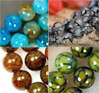 Natural 6mm 8mm 10mm Blue Dragon Veins Agate Round Gemstone Loose Beads 15''AAA