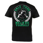 """T-SHIRT MMA VALETUDO """"BELIVE IN YOURSELF"""" FOR MMA TRAINING GYM 100% COTTON BLACK"""
