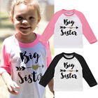 Lovely Baby Kid Girls Clothes Cute Big Sister Cotton Long Sleeved T-shirt Tops