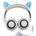 Unique Cat Ear headphones Gaming Headset Earphone Foldable Flashing with LED new