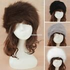 Female Russian Style Winter EarWarmer Faux Fur EarMuffs Headband Hat Cap EN24