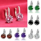 on Women 1 Pair Elegant Crystal Rhinestone Silver Plated Ear Stud Earrings EN24H