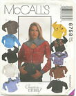 McCalls 6758 Misses Western Style Shirts Sewing Pattern