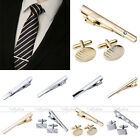 MENS Stainless Steel Simple Necktie Tie Bar Clasp Clip Cufflinks Clamp Pin Gift