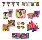 BOLAND 80's Themed Party TABLEWARE & DECORATIONS