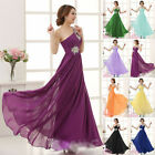 Women One Shoulder Chiffon Evening Formal Party Gown Prom Bridemaid Dress Chic
