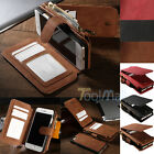 Genuine Leather Case Cover Zipper Wallet Card Multifunction For iPhone 7 Plus 6S
