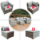 Patio Rattan Sofa Furniture Set Infinitely Combination Cushioned PE Wicker New