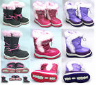 Girls Kids Pineapple Thermal Fur Lined Snow Wellington Boots Wellies Pink Lilac