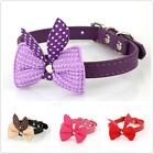 Bowknot Adjustable PU Leather Dog Puppy Pet Cat Collars Necklace Neck Lace - LD