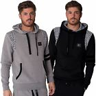Mens Casual Street Hooded Jacket Contrasting Geo Print Hoody Fremont Sizes S-XL