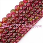 "Round Smooth Multicolor Quartz Gemstone Beads 15"" 6mm 8mm 10mm 12mm 14mm 16mm"