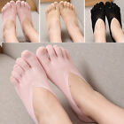 New Women Cotton Blend Lace Antiskid Invisible Low Cut Socks Toe Ankle Sock JR