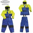 Fladen Flotation/Floatation Suit, 2 piece: All sizes - BLUE & YELLOW NEW STOCK