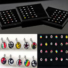 Mixed Lot Surgical Steel Rhinestone Nose Piercing Stud Bone Ring Bar Cool