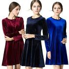 Women Fashion Long Sleeve Cocktail Party Evening Short Dress Casual Dress S-XL